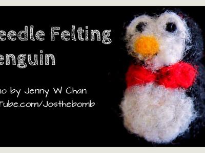 Christmas Crafts - DIY Needle Felting Penguin - Crafts #DIYDecember