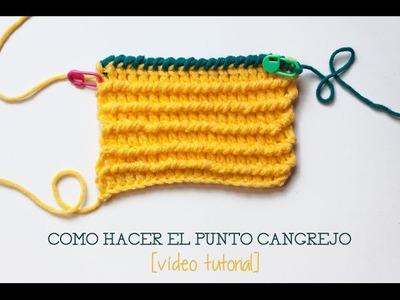 Cómo hacer el punto cangrejo en ganchillo | Crochet crab stitch