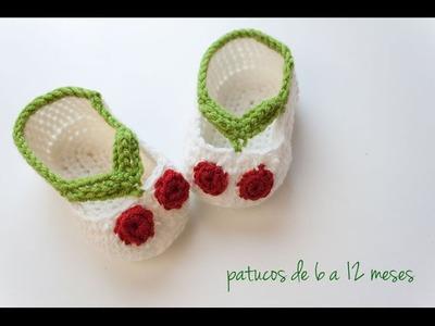 Cómo hacer unos patucos de ganchillo | Crochet baby shoes tutorial