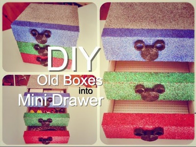 Craft Warehouse - DIY : Old Boxes into Mini Drawer #2