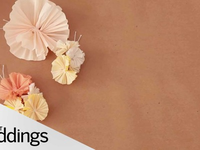 Crêpe Paper Floral Wedding Craft - DIY Weddings - Martha Stewart Weddings