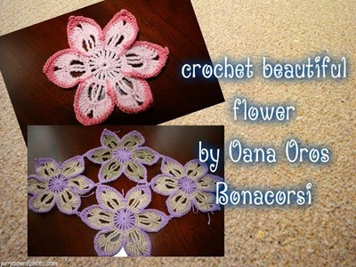 Crochet beautiful flower