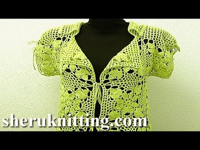 Crochet Cardigan Tutorial 11 Part 3 of 3 Crochet Clothes