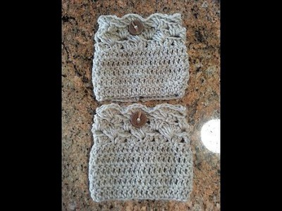 Crochet easy beautiful boot cuffs DIY tutorial