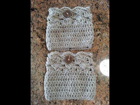 Crochet easy beautiful boot cuffs DIY tutorial