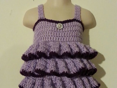 #Crochet Easy - beginner Ruffled Shirt Top Baby Toddler adult  #TUTORIAL Crochet toddler