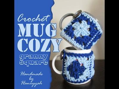 Crochet Granny Square Mug Cozy