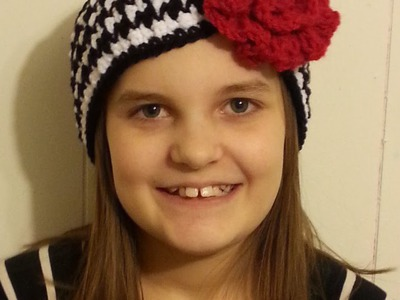 #Crochet Houndstooth Stitch Headband Ear Warmer #TUTORIAL How to Crochet a Headband