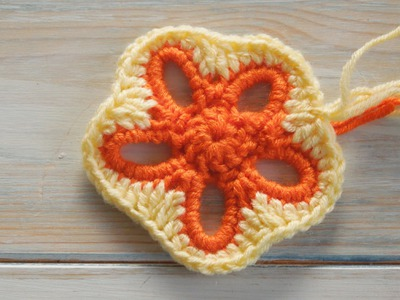 (crochet) How To Crochet a Granny Flower Pentagon - Yarn Scrap Friday