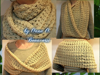 Crochet infinity shawl