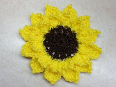Crochet Large Sunflower #TUTORIAL