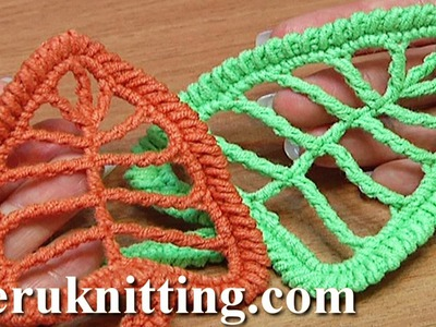 Crochet Leaf Tall Stitches Tutorial 18