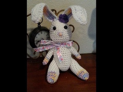 Crochet quick and easy beginner amigurumi bunny rabbit DIY tutorial