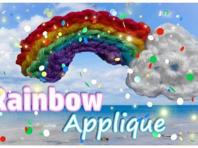 Crochet - Rainbow & Cloud Applique Tutorial