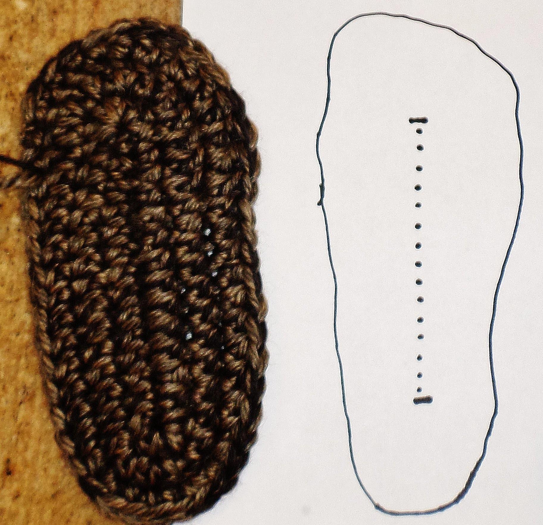 CROCHET SLIPPER BOOT SOLE TUTORIAL - PART 1