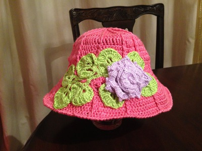 Crochet spring hat for girl (from infant to adult)