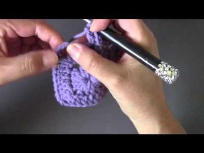 Crochet square motif 93