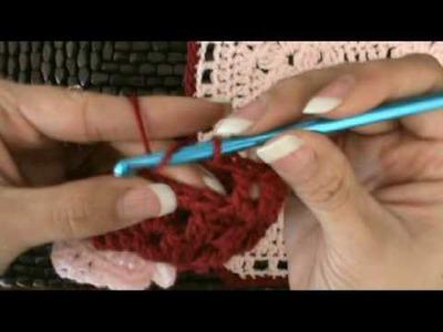 Crochet Sweet Heart Granny Square #6