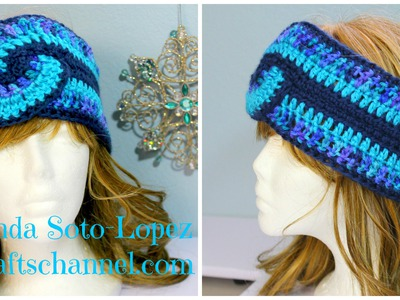#Crochet Swirl Headband