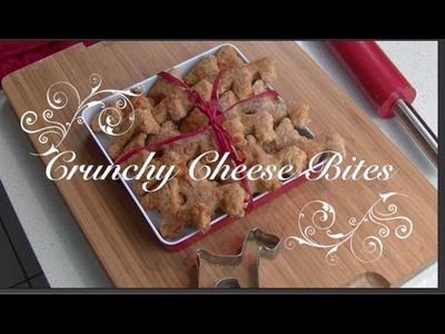Crunchy Cheese Bites - a DIY dog food tutorial by Cooking For Dogs