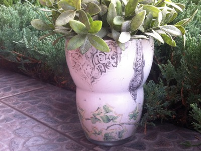 Decoupage on glass - vase  DIY tutorial