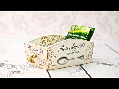 Decoupage - spices cointanier - tutorial DIY