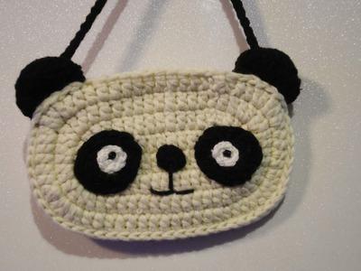 "Детская сумочка ""ПАНДА"" Children's Crochet Bag"