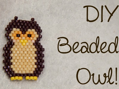 DIY Bead Owl Brick Stitch Charm ¦ The Corner of Craft