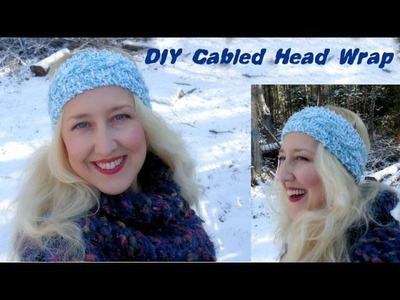 DIY Cable Knit Head Wrap (pattern in description)