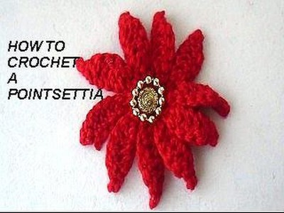 DIY CROCHET POINSETTIA, CHRISTMAS FLOWER