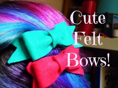DIY Cute Felt Bows! ¦ The Corner of Craft
