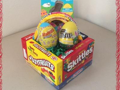 DIY Edible Candy Box Easter Basket Tutorial (Pinterest Inspired Craft)