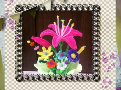 Diy fun craft tutorial : Pipe cleaner lily手工教學 : 毛根百合花