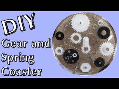 DIY Gear and Spring Recycling Coaster   Another Coaster Friday Craft Klatch