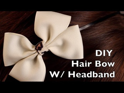 DIY Hair Bow Tutorial - Double Bow on a Headband or Hair Clip