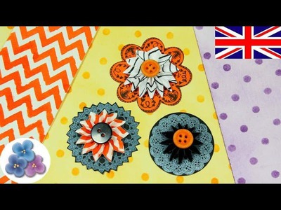 DIY Halloween *How to Make Paper Flowers* Paper Ornaments Easy Crafts Scrapbook Flower Mathie
