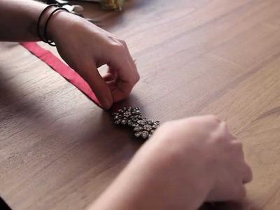DIY Jeweled Ribbon Headband