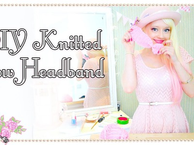 DIY Knitted Bow Headband - Craft Tutorial - Violet LeBeaux