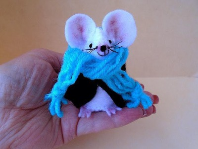 DIY little felt mouse, sewing pattern and how to