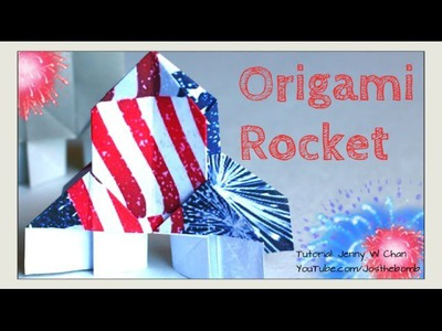 DIY Origami Rocket - July 4th Crafts - Kids Summer Crafts - Paper Crafts, DIY Fireworks