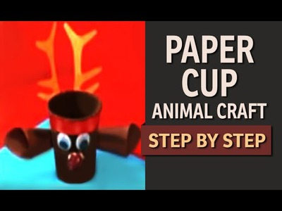 DIY: Paper Cup Craft - How to make a Paper Cup Reindeer (Hindi)