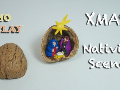 DIY Polymer clay tutorial - Christmas Crib Ornament - Presepe in miniatura - Pesebre en miniatura