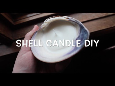DIY seashell candle tutorial- sea witch, pagan, wiccan crafts!