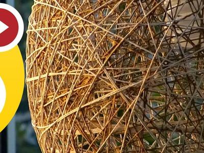 DIY Seil Lampe Bestes Tutorial