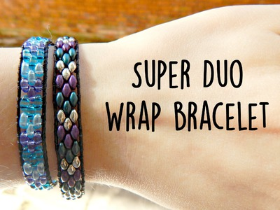 DIY Twin Bead.Super Duo Wrap Ladder Bracelet ¦ The Corner of Craft