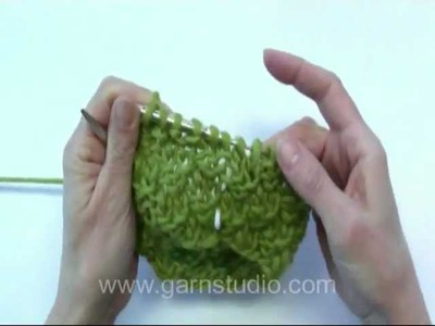 DROPS Knitting Tutorial: How to knit double seed st.moss st in the round