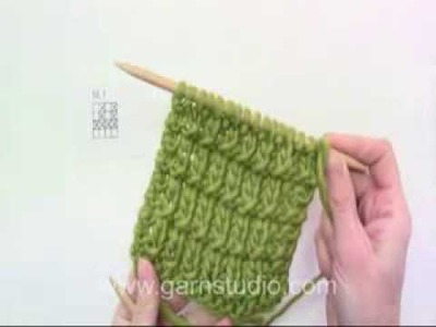 DROPS Knitting Tutorial: How to knit simple textured pattern - just K and P sts.