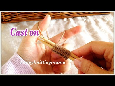 【棒針】指でかける作り目の編み方 How to Cast On(Knitting needle)