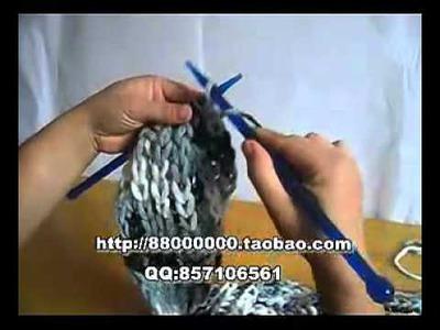 男友 圍巾 頸巾 Woolen knit knitting DIY 冬天圍巾 編織  鉤針 起針 上下 繞針  收針
