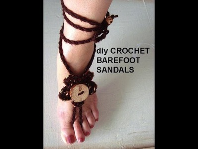 EASIEST CROCHET  BAREFOOT SANDALS, how to diy